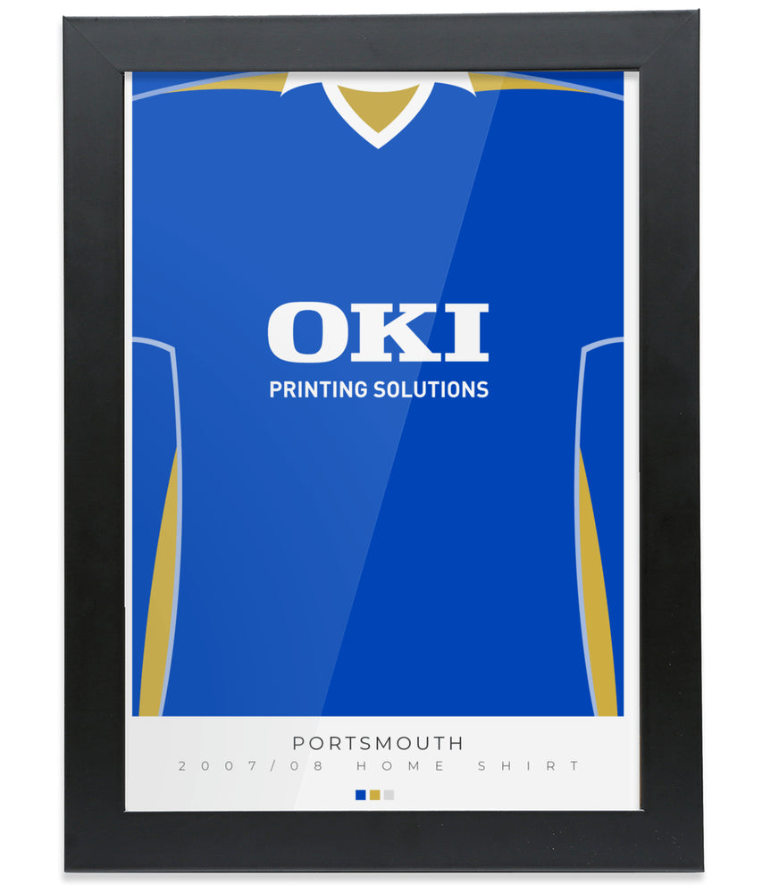 Portsmouth 07-08 Home Shirt Poster