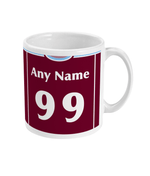 West Ham United 1999/00 Personalise Home Shirt Retro Football Mug