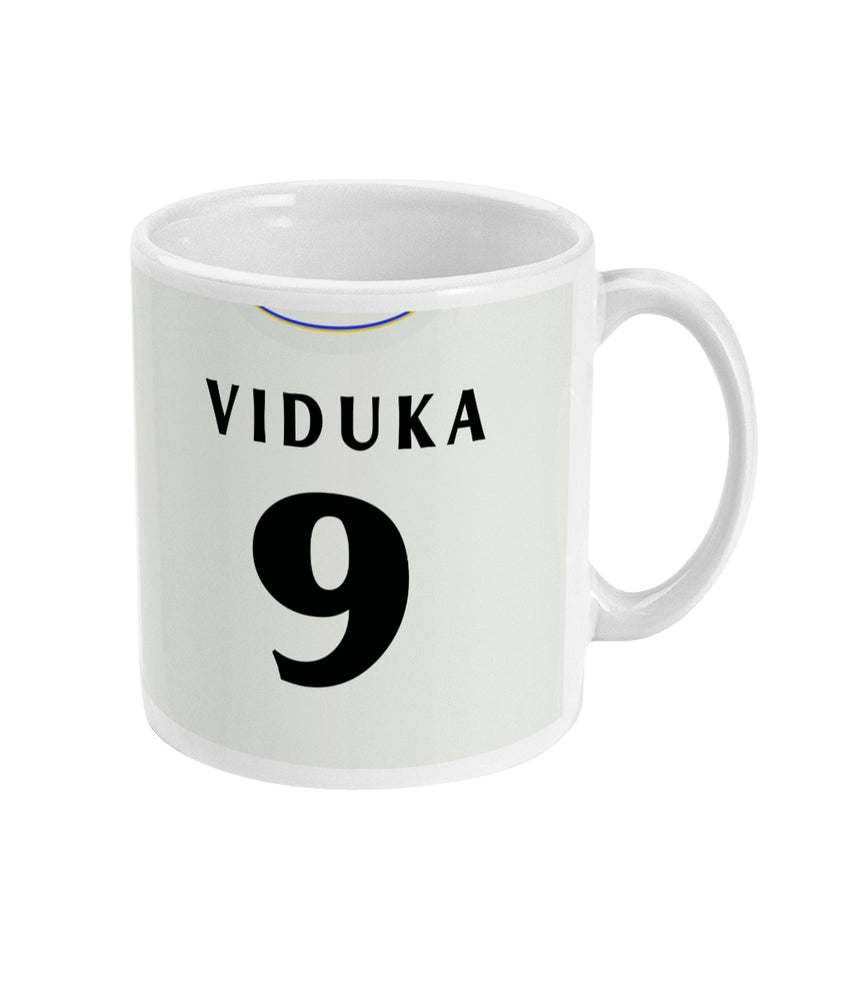 Leeds United 2000-01 Viduka Home Shirt Retro Football Mug