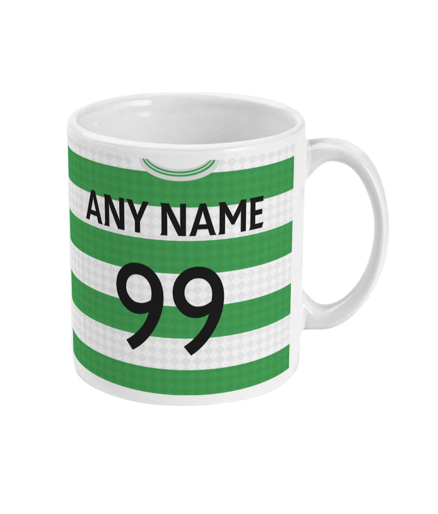 Celtic 1987-89 Personalised Home Shirt Retro Football Mug