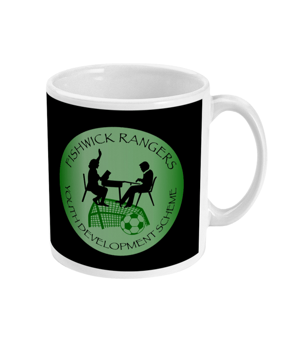 Fishwick Rangers Youth & Community Development Badge Black Football Mug