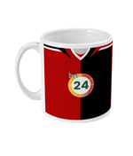 Blackburn Rovers 2007/08 Away Shirt Retro Football Mug
