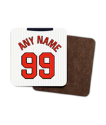 England 1998 Personalised Home Shirt Retro Football Coaster