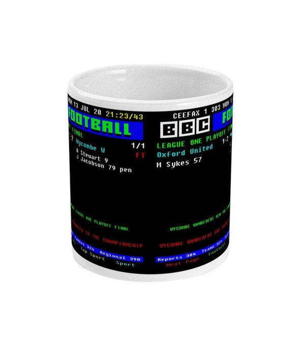 Oxford United V Wycombe Wanderers League One Playoff Final CEEFAX Result Mug