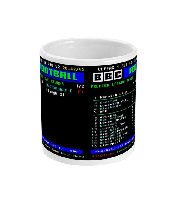 Norwich City 3-1 Nottingham Forest Premier League CEEFAX Result Mug