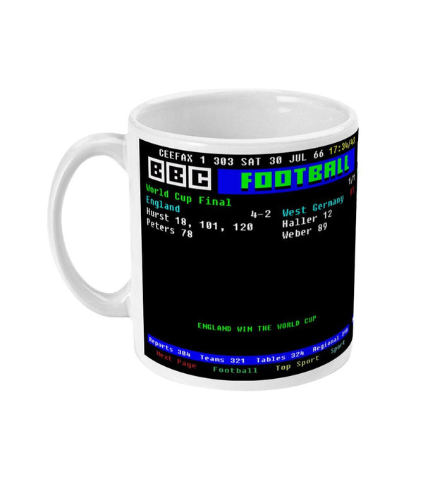 England 4-2 Germany 1966 World Cup final CEEFAX Result Mug