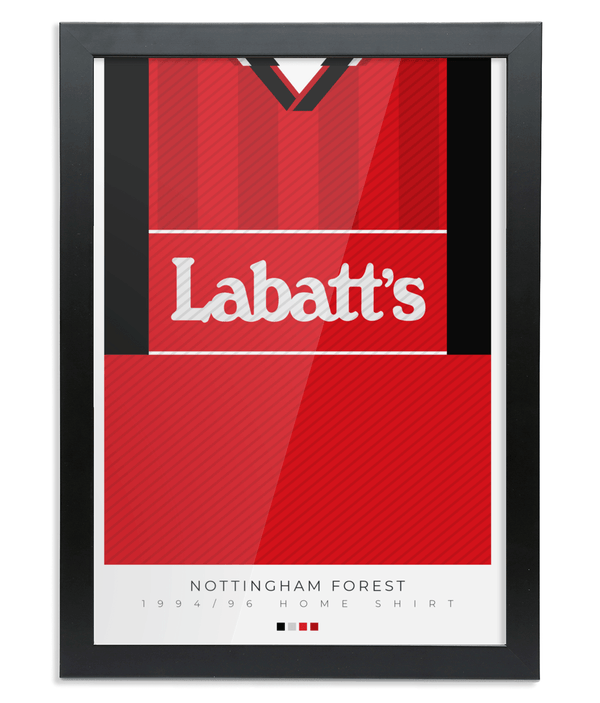 Nottingham Forest 1994-96 Home Shirt Poster United