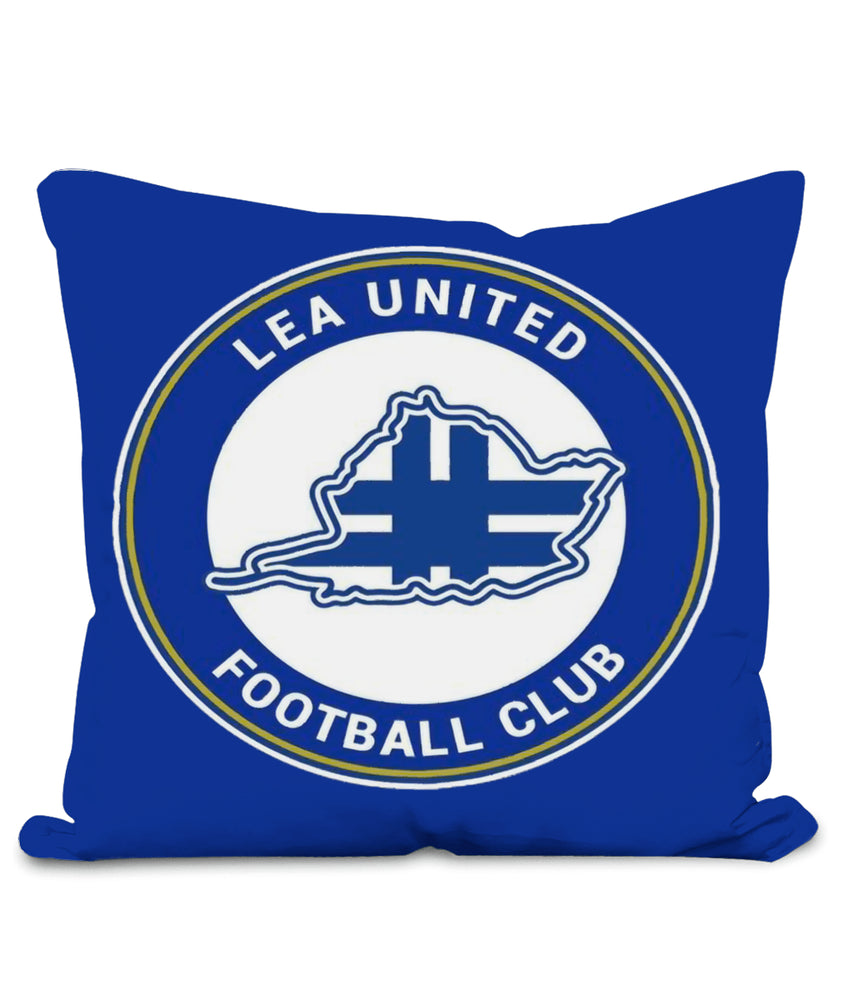 Lea United Blue Badge Football Pillow