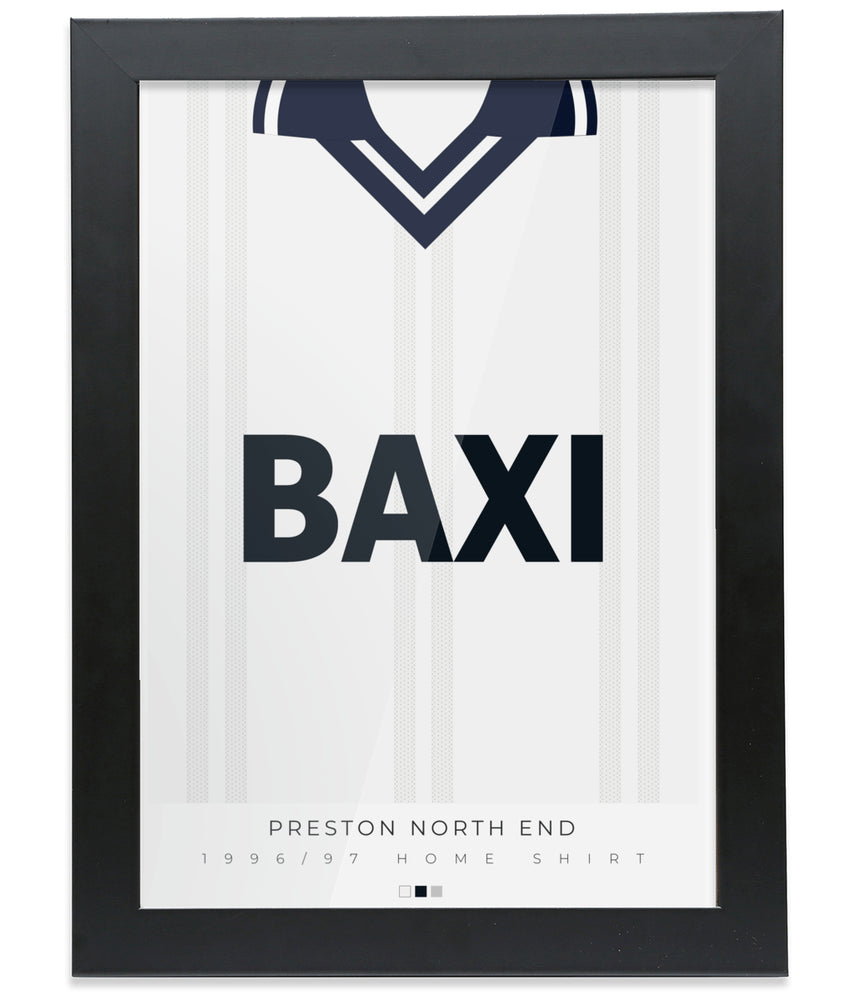 Preston North End 1996-97 Home Shirt Retro Football Print