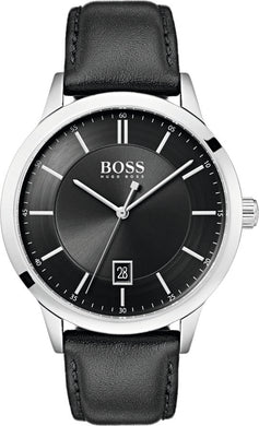 Hugo Boss Black Officer Sort læderrem
