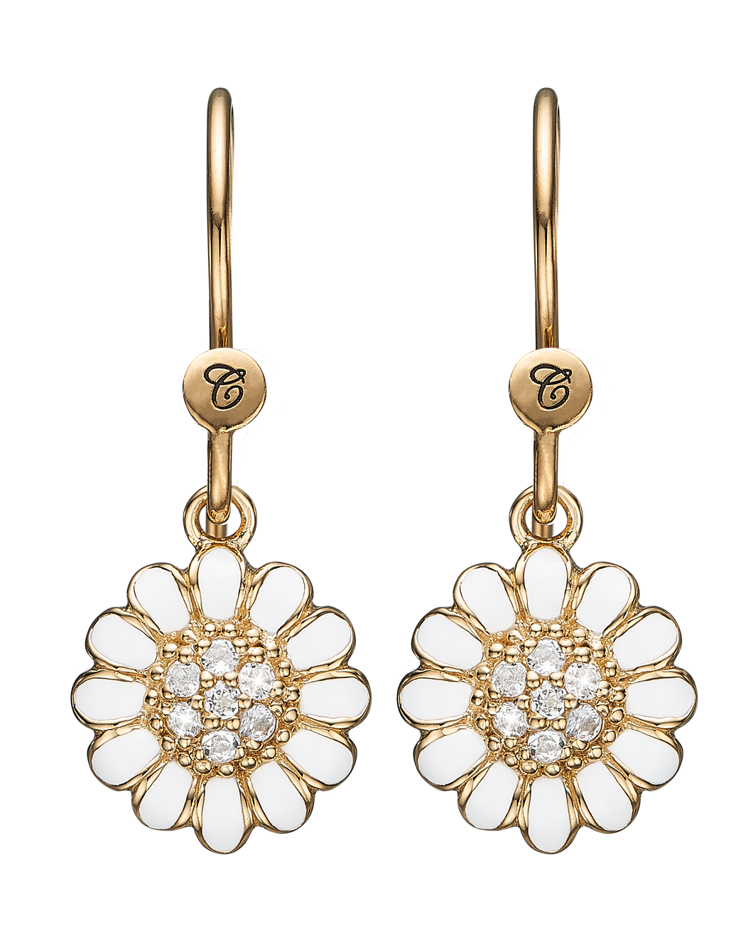 Christina Jewelry ørehænger White Marguerite