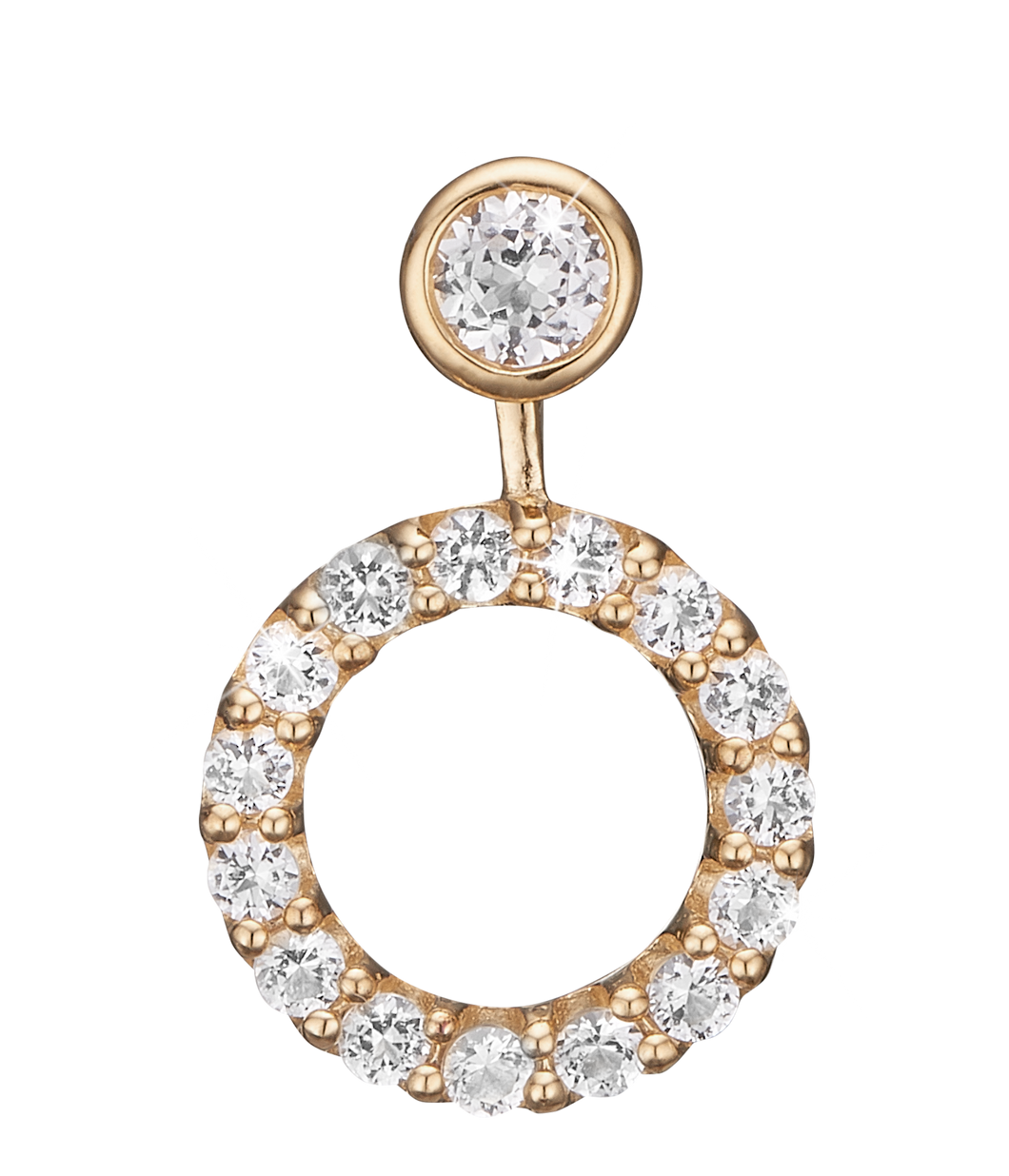 Christina Jewelry ørehænger Flying Topaz Circle