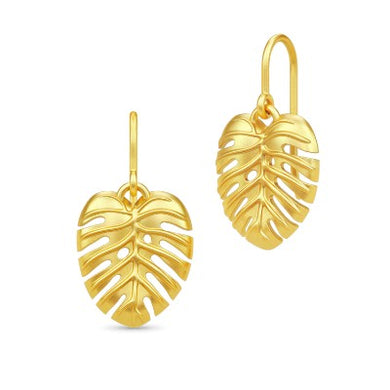 Julie Sandlau Philo Leaf Earrings