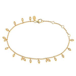 Jungle Vine Sparkle armbånd - Forgyldt