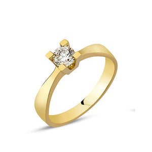 Nuran Solitare ring med Brillant 0,35 ct