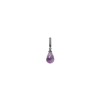 Christina Collect Black Silver Amethyst Drop