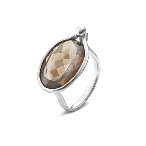 Georg Jensen Savannah Ring Røgkvarts