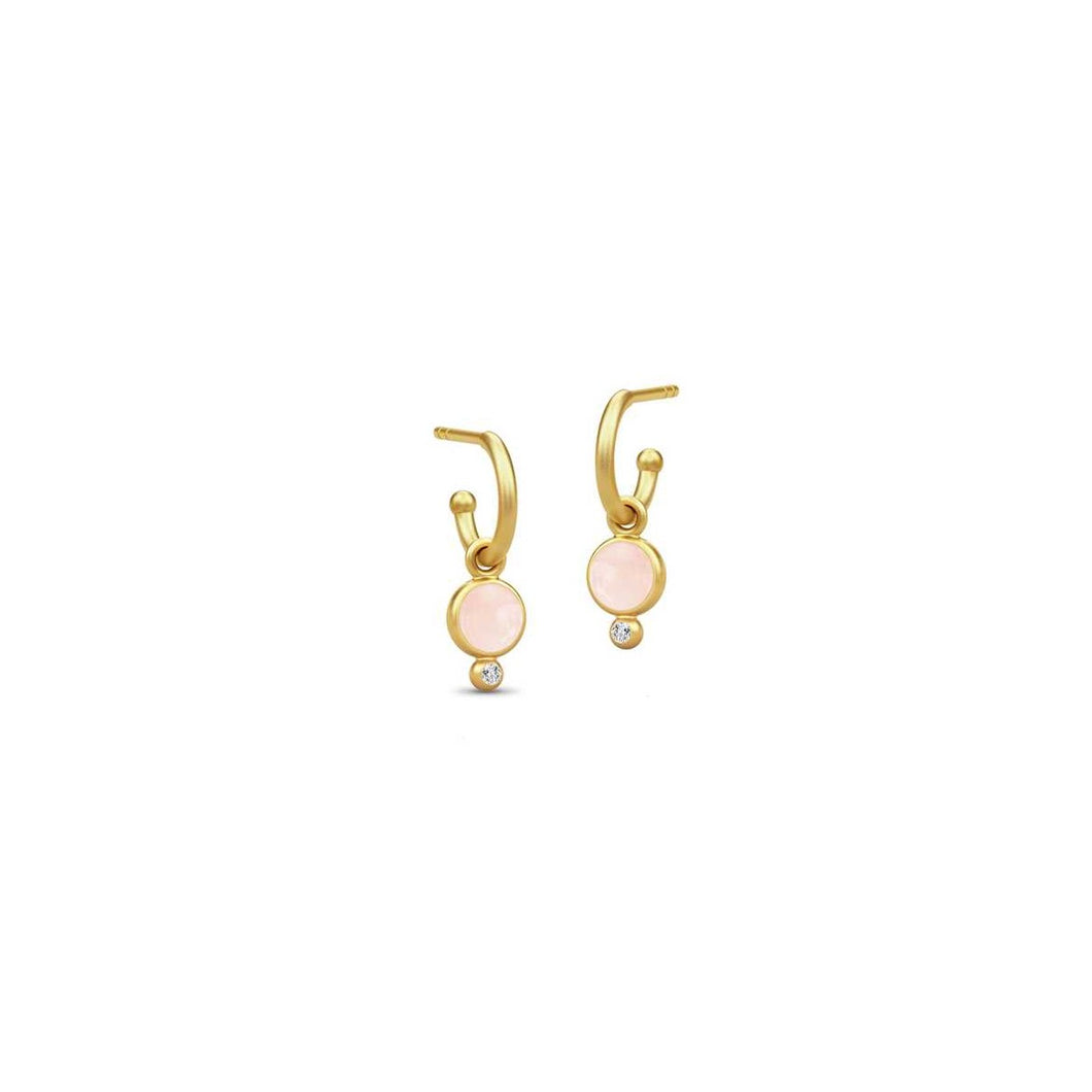 Julie Sandlau Mini Hoops Milky Rose