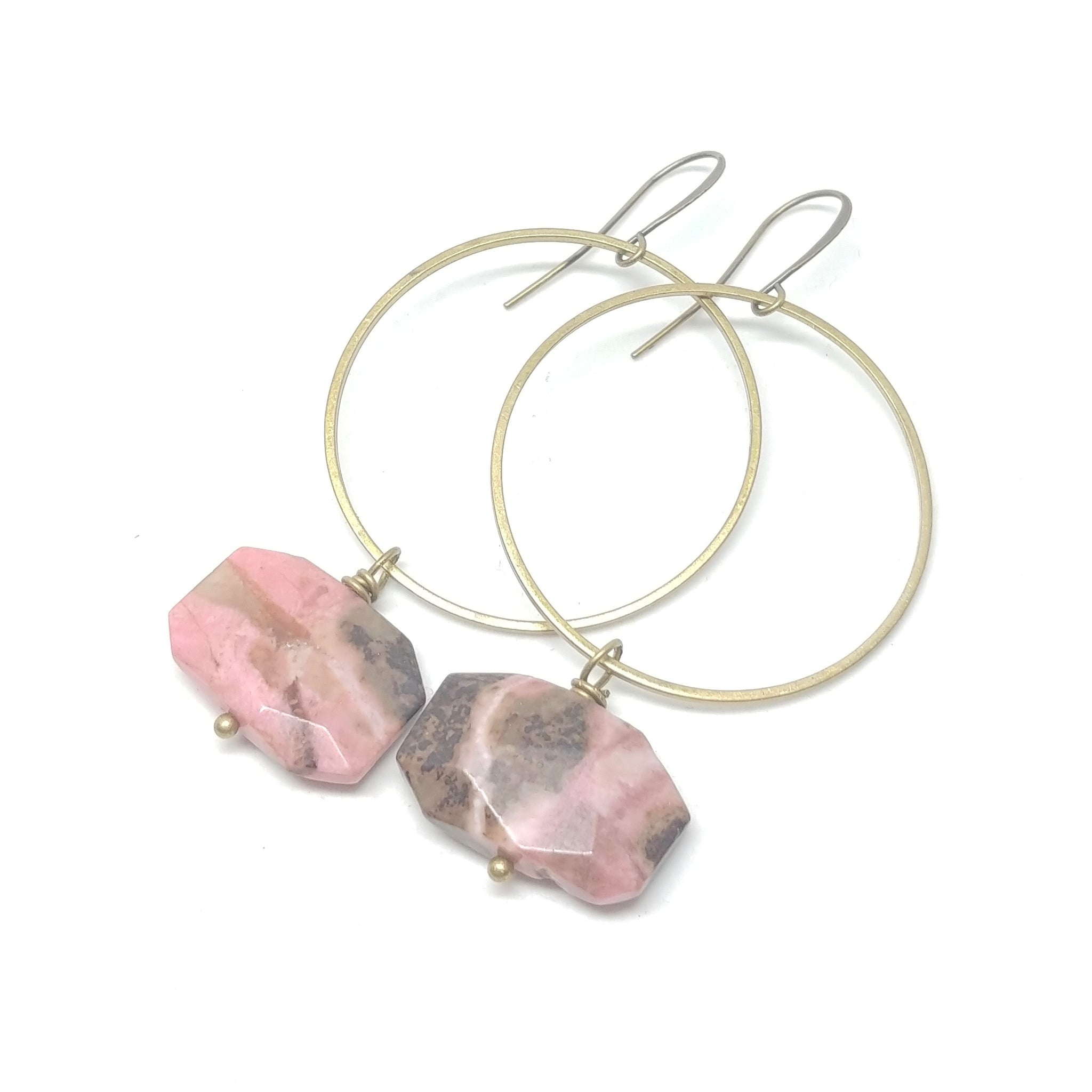 Rhodonite Hoops