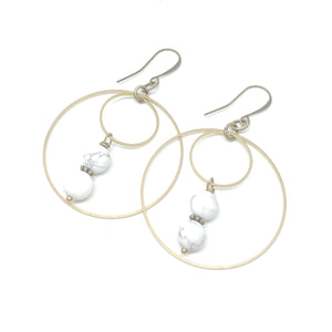 Howlite Double Hoops