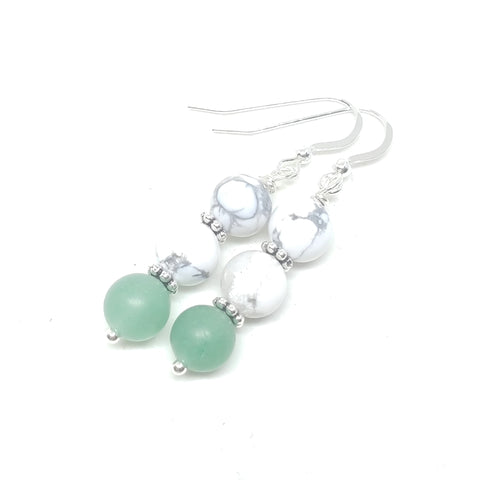 Howlite and Aventurine Dangles