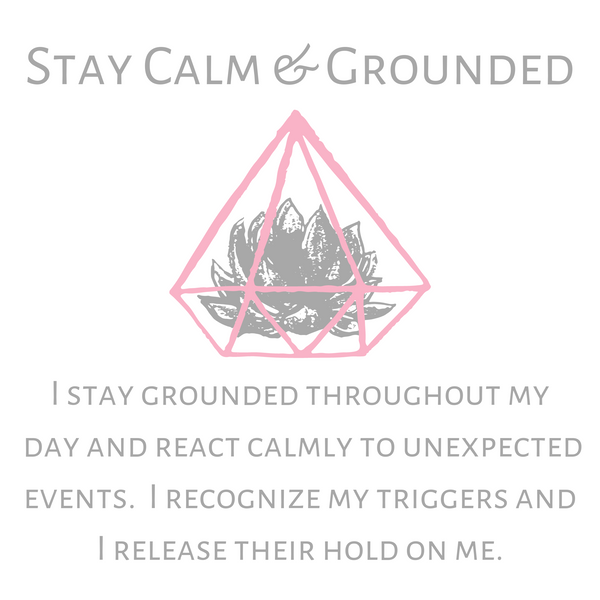 Stay Calm & Groundeded--Short Necklace
