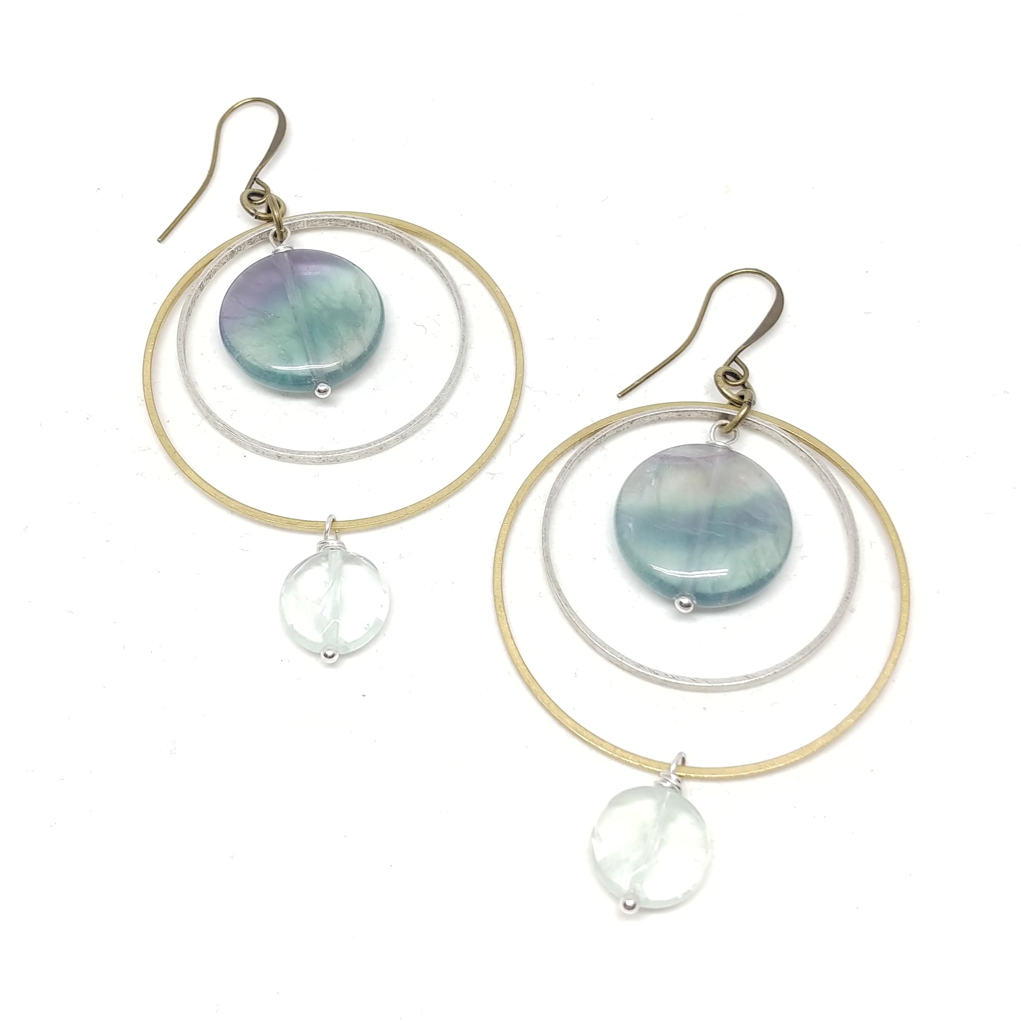 Flourite Mixed Metal Hoops, Mother's Day Citrus Perfume Gift Set