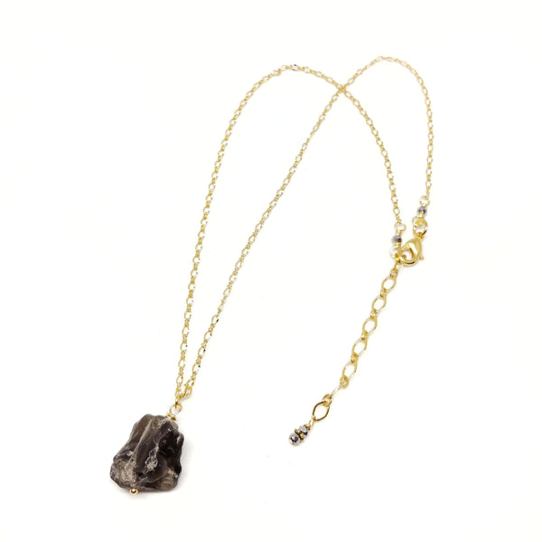 RAW Smoky Quartz Necklace