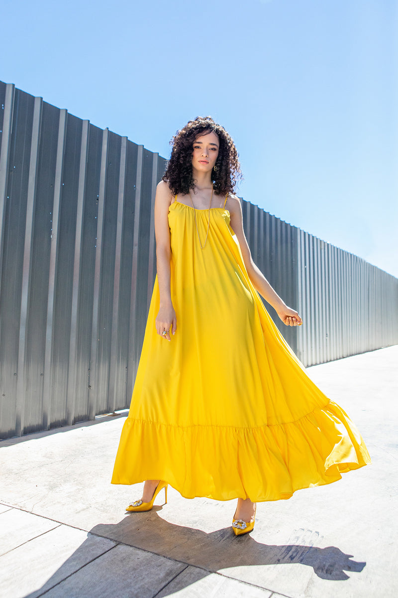 MAXI DRESS - YELLOW (ONE SIZE)