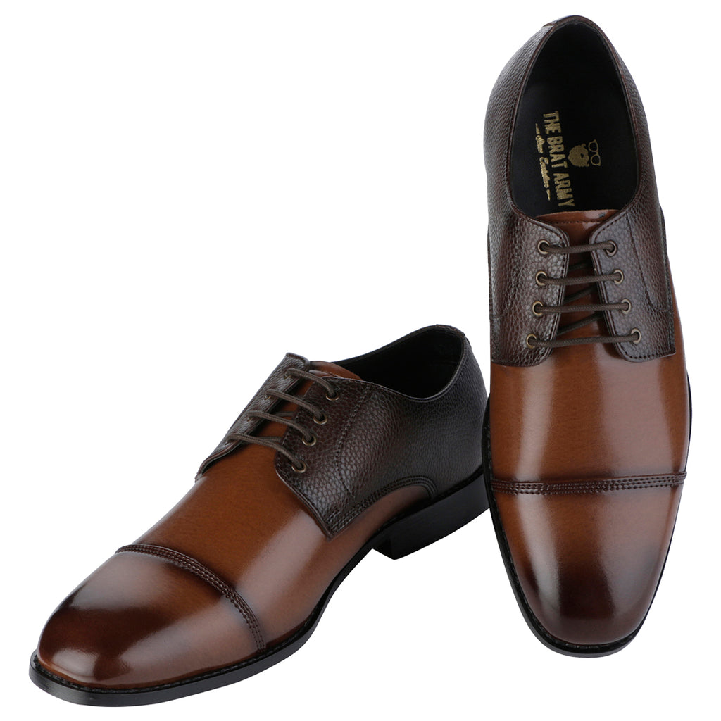 BERGHOLT BROWN CAP-TOE DERBY