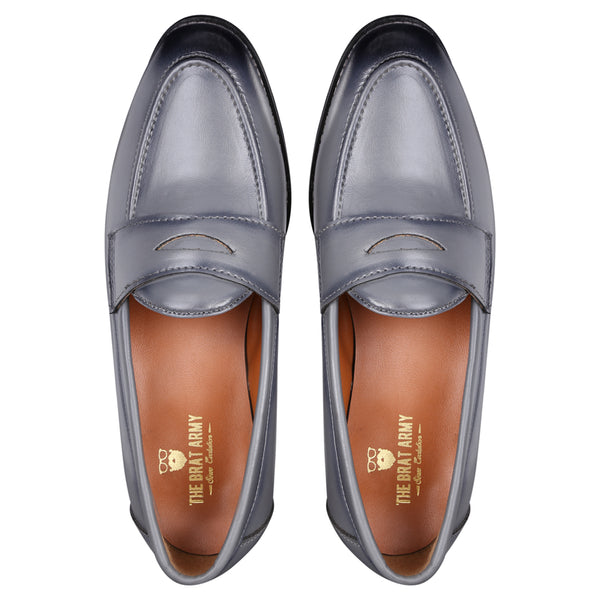 ae757395a5f SIENA TIMELESS GREY CLASSIC PENNY LOAFERS – THE BRAT ARMY