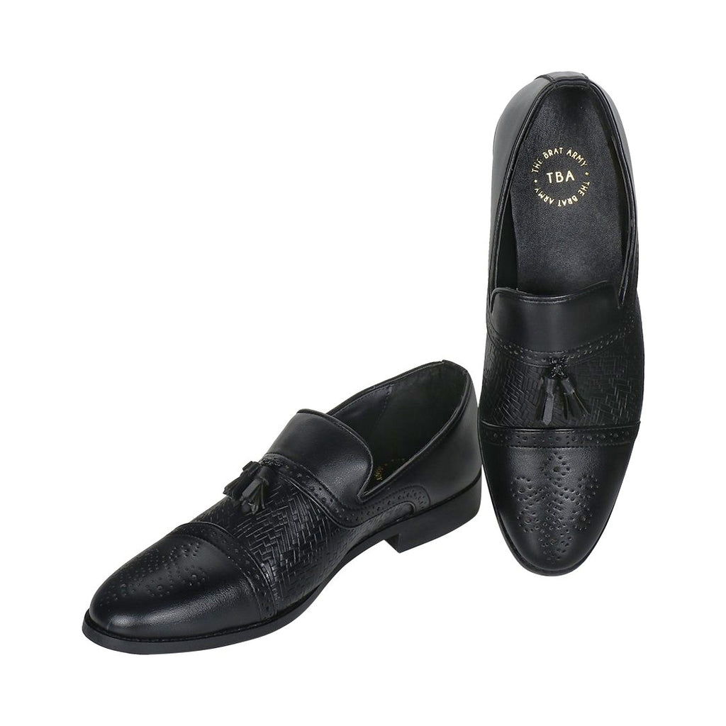 ASHFORD BLACK TASSEL LOAFERS