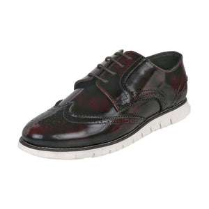 ALLEN WINGTIP CHERRY/BLACK BROGUE SNEAKERS