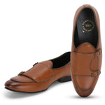 BELLO TAN DOUBLE MONK LOAFERS