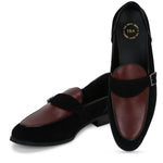 KINGSTON BLACK/RED SINGLE MONK LOAFER