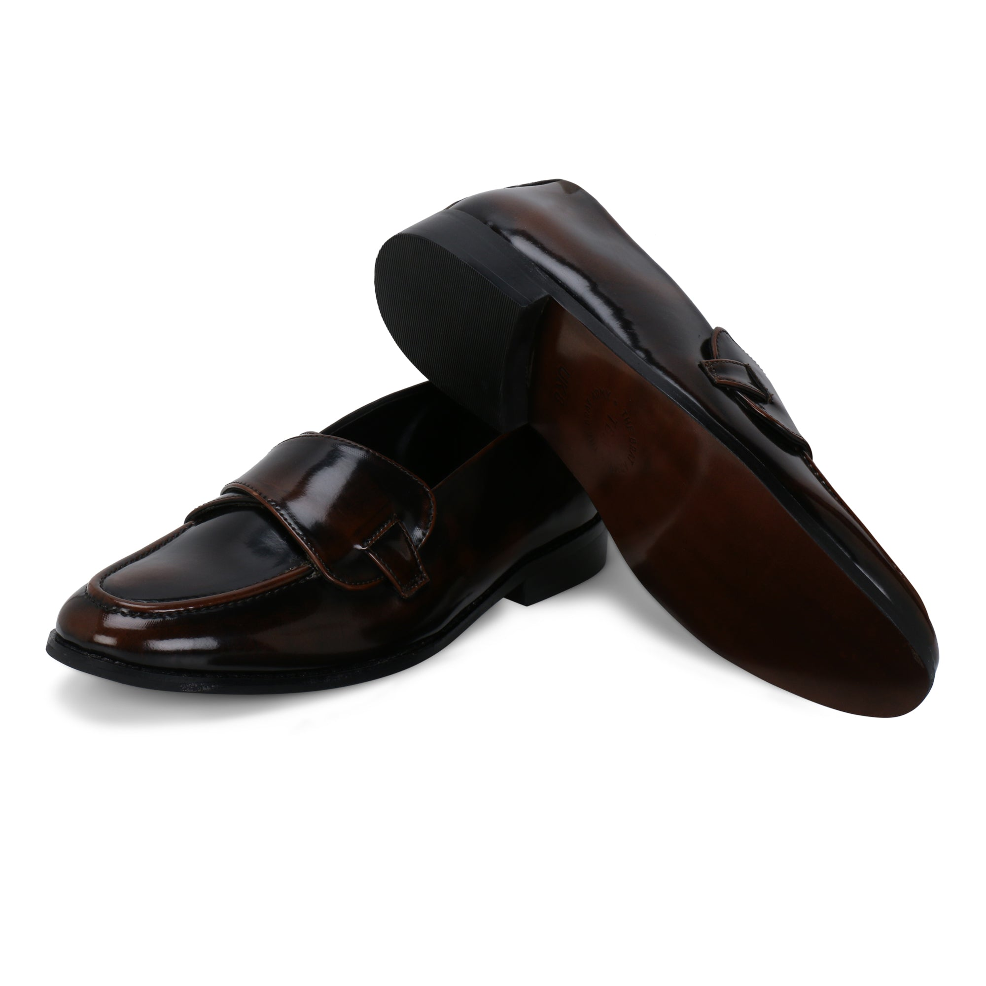 COLUMBUS BLACK TAN BRUSH OFF BUTTERFLY LOAFER