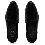 KINGSTON BLACK SINGLE MONK LOAFER