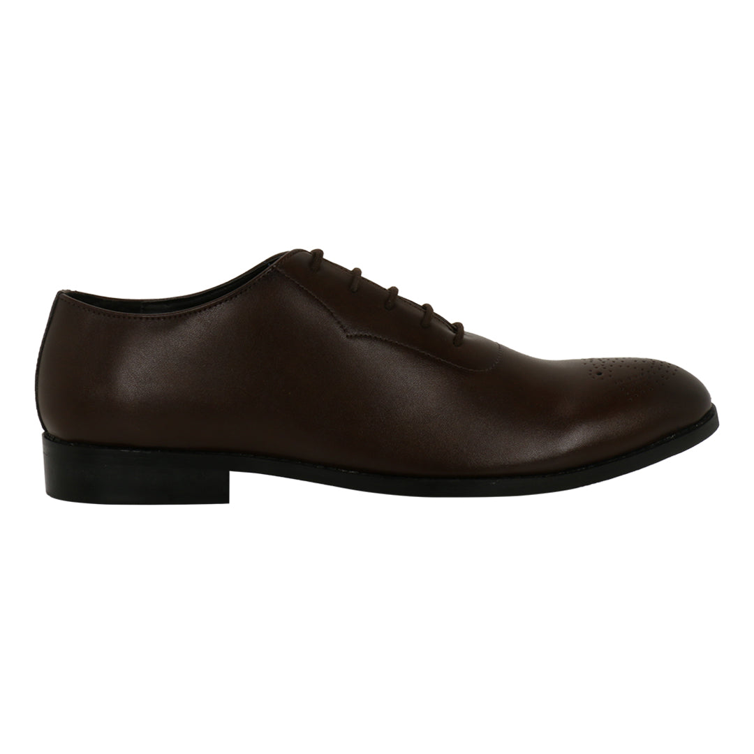 NOVARA BROWN MEDALLION-TOE  OXFORDS