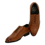 NOVARA TAN MEDALLION-TOE  OXFORDS