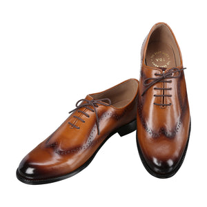 CASTLETON DUAL TONE TAN OXFORDS