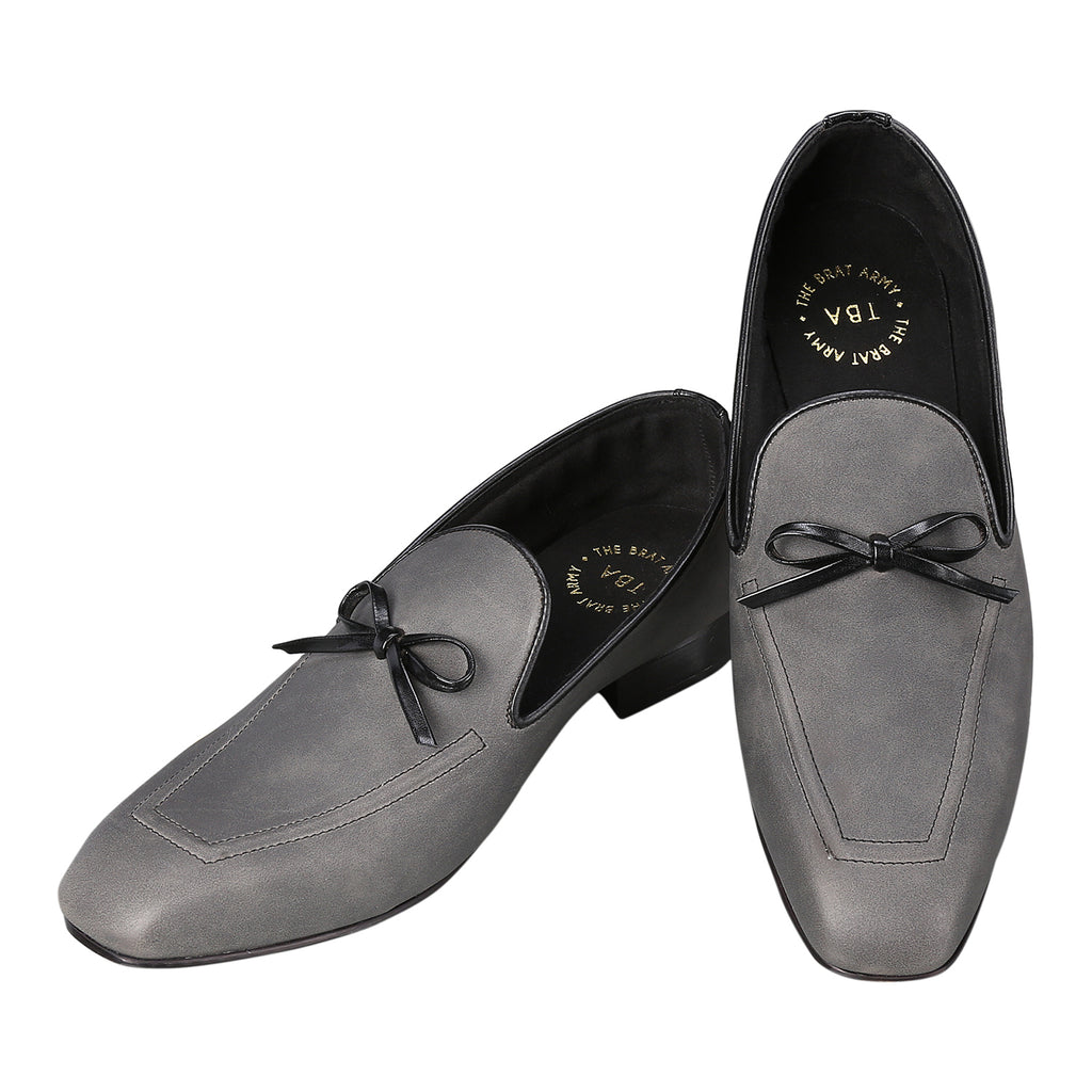 SAN LEO GREY FLEXI LOAFERS