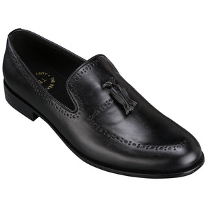BAYONNE BROGUES BLACK TASSEL LOAFERS