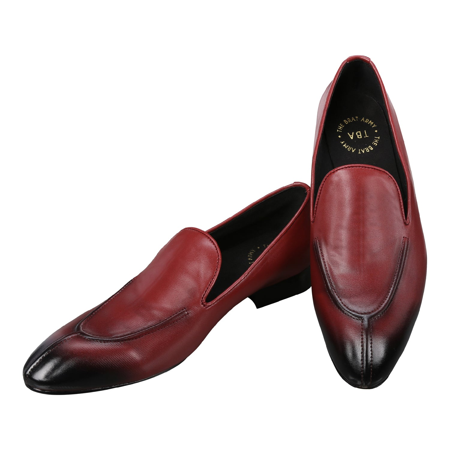BURNHAM  WINE SPLIT-TOES  LOAFERS
