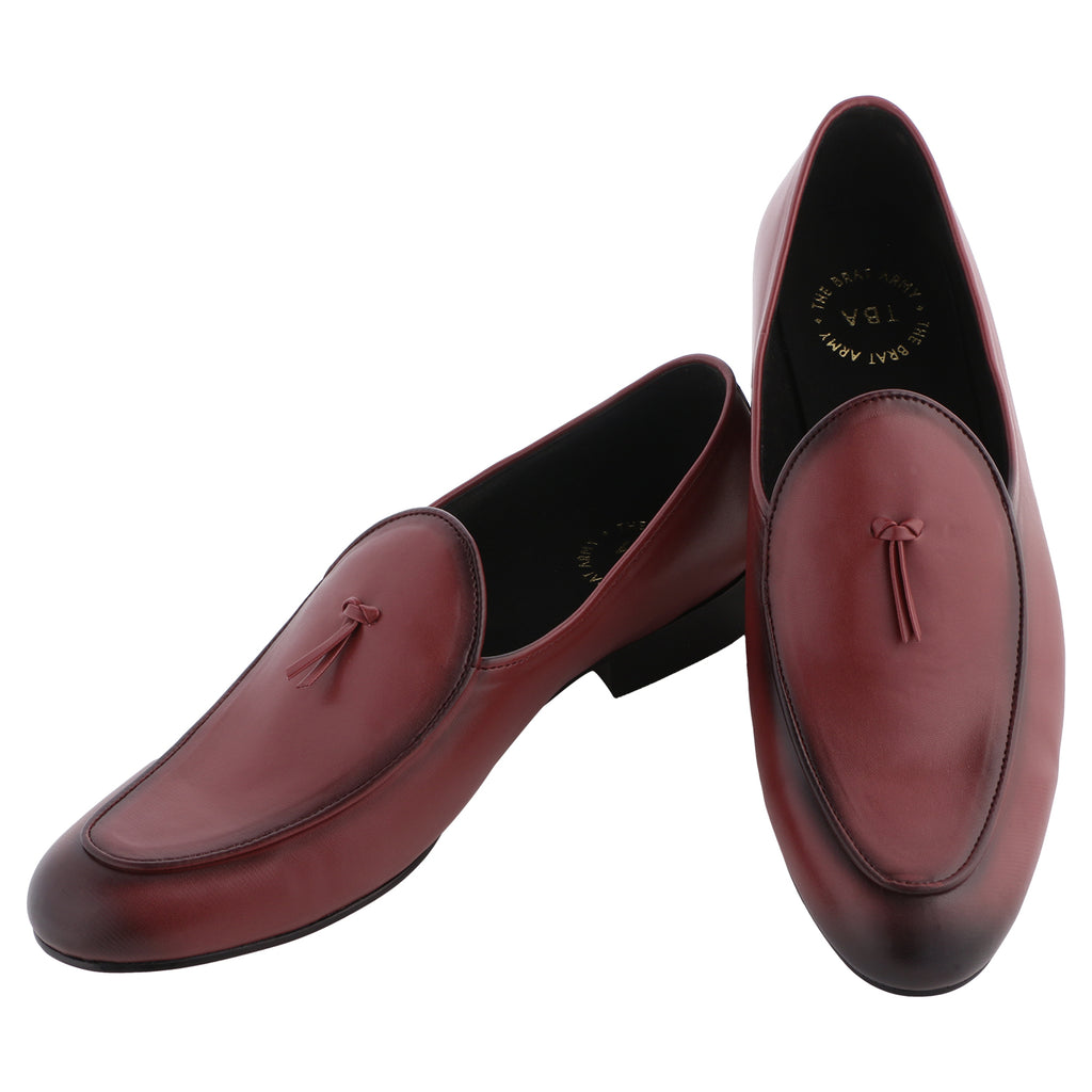 NERO WINE TASSEL LOAFERS