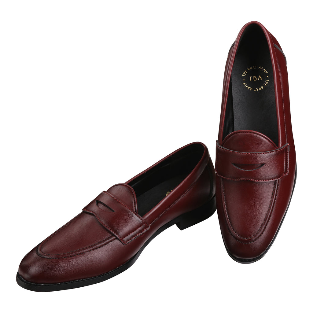SIENA TIMELESS WINE CLASSIC PENNY LOAFERS
