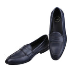 SIENA TIMELESS PRUSSIAN BLUE CLASSIC PENNY LOAFERS