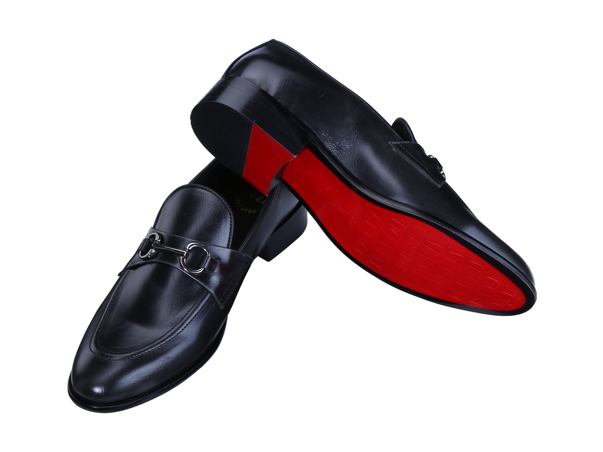 RUSSELL BLACK BUCKLE LOAFERS