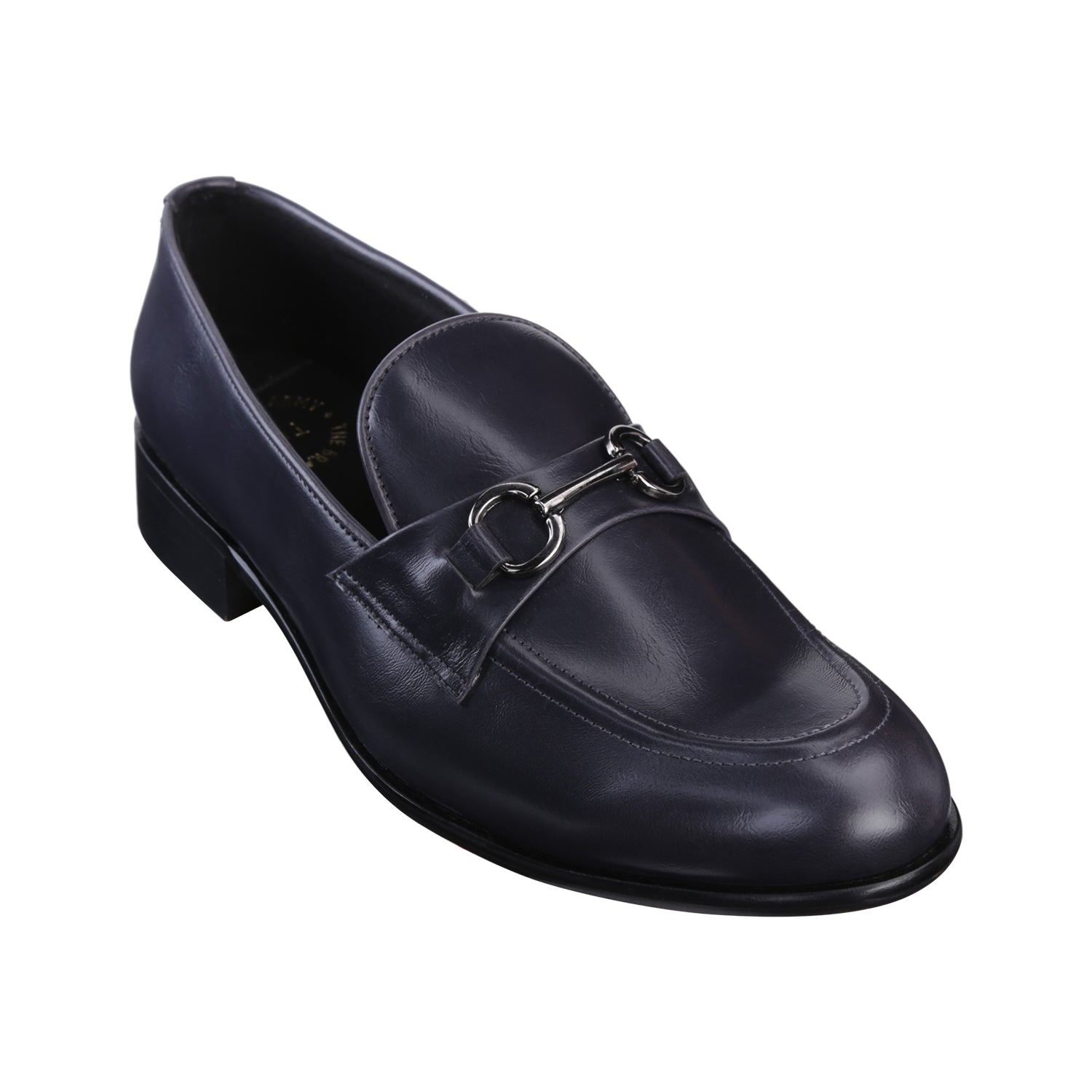 RUSSELL BLUE BUCKLE LOAFERS