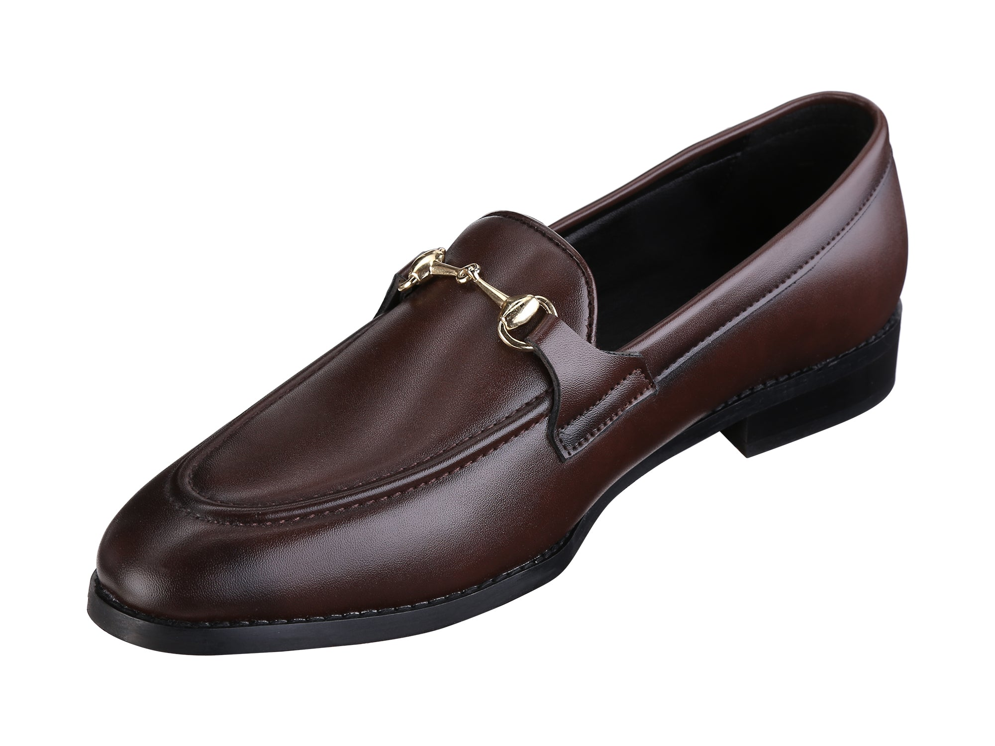 HENLEY BROWN HORSEBIT BUCKLE LOAFERS.