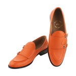 BELLO DOUBLE MONK ORANGE LOAFERS
